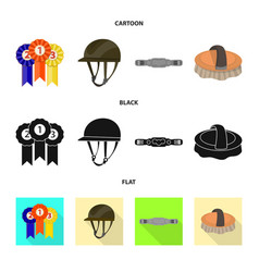 design of equipment and riding sign vector image