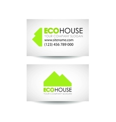 Eco house and real estate logo template Eco vector