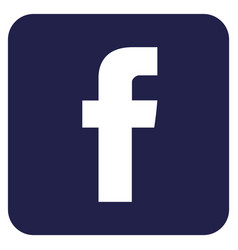 facebook logo sign vector image