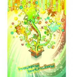 Festive happy birthday background vector