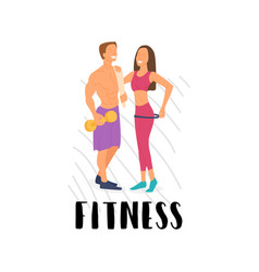 Fitness young energetic family involved in sport vector