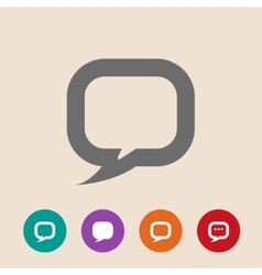 Flat icon of dialog vector image