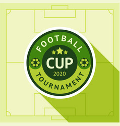 football green badge vector image
