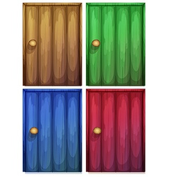 Four colourful doors vector