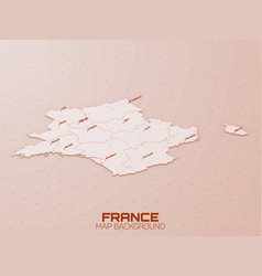 france 3d map visualization futuristic hud map vector image
