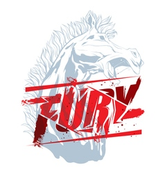 Fury sign with horse head vector