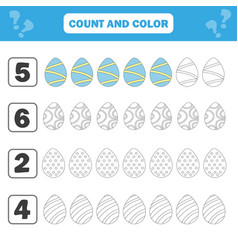 game for preschool children count and color vector image