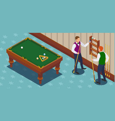 game of billiards composition vector image