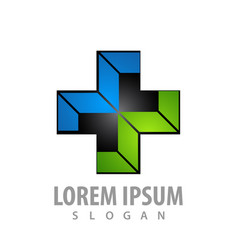 geometric cross mw letter logo concept design vector image