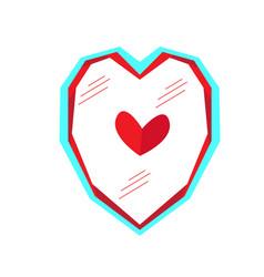 geometrical heart shape vector image