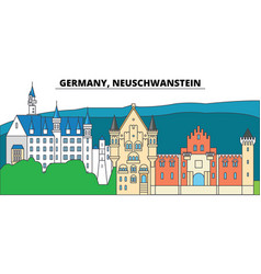germany neuschwanstein city skyline vector image