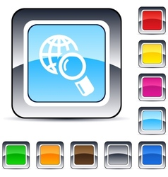 global search square button vector image