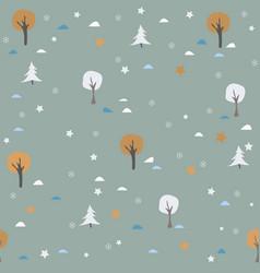 Golden winter seamless pattern dark background vector