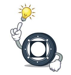 Have an idea byteball bytes coin mascot cartoon vector