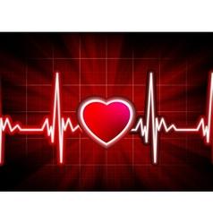 Heart beating monitor vector