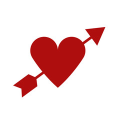 heart icon with arrow vector image