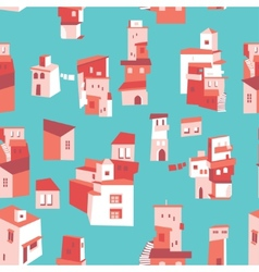 House set Asian city pattern vector image