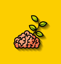 Human brain concept image vector