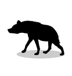 Hyena predator black silhouette animal vector