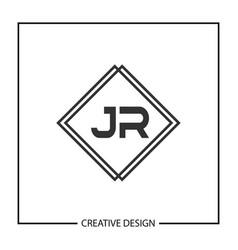 Initial jr letter logo template design vector