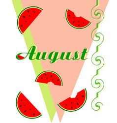 Inscription august vector