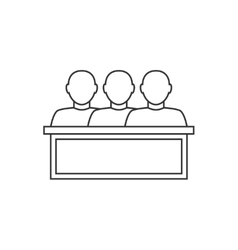 Jury thin line icon vector