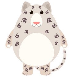Leopard with happy face vector