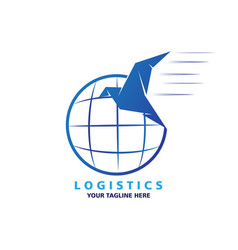 logistic logo design vector image
