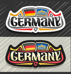 Logo for germany vector