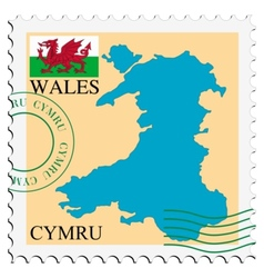 Mail to-from Wales vector