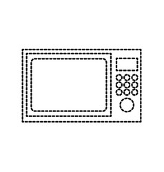 microwave appliance electronic kitchen equipment vector image