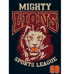 Mighty Lions sports league vector