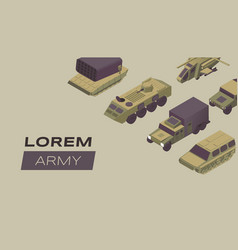 modern army flat banner template military vector image