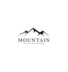 mountain and outdoor adventures logo on gold vector image