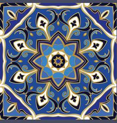 Oriental blue pattern vector