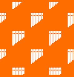 pan flute pattern seamless vector image