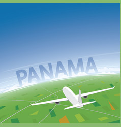 Panama flight destination vector