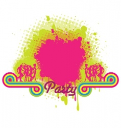 Party grunge background vector
