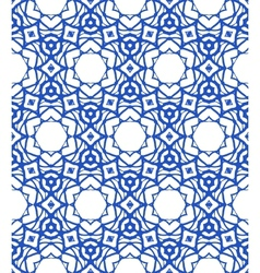 Pattern with Mediterranean Moroccan motifs vector image