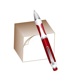 Pen and note block vector