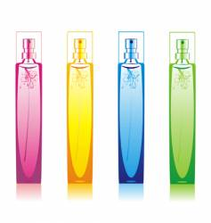 perfume bottles set vector image