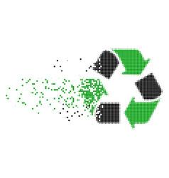 Recycle arrows dispersed pixel icon vector