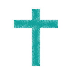 Religious cross isolated icon vector