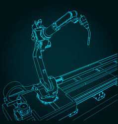 Robotic welding machine vector