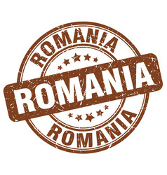Romania brown grunge round vintage rubber stamp vector