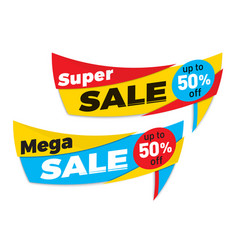Sale label price tag banner badge template sticker vector