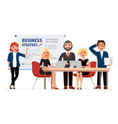 set of business people cartoon characters vector image vector image