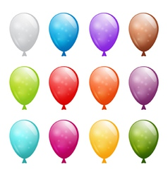 set of shiny balloons vector image