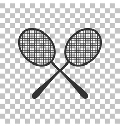 Tennis racquets sign Dark gray icon on vector image