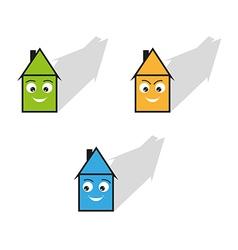 three houses vector image